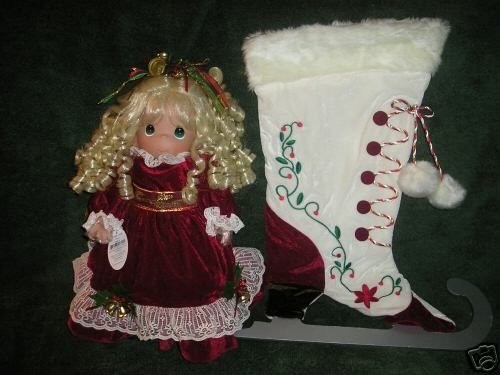 Precious Moments Winter on Ice Christmas Stocking Doll (2006) 1172