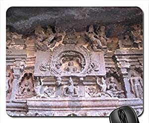 Ellora Caves, India ( World Heritage Site ) Mouse Pad, Mousepad (Ancient Mouse Pad, 10.2 x 8.3 x 0.12 inches)