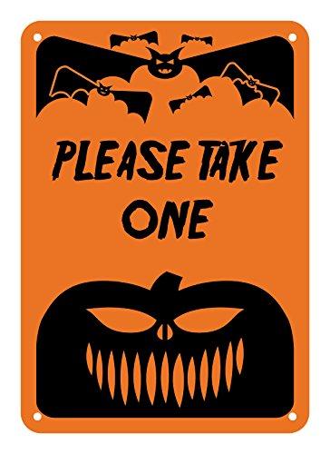 Take One Halloween (Reflective Aluminum Halloween Sign