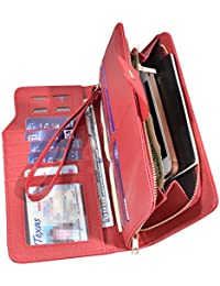 Women Lady Leather Wallet Zipper Purse RFID Credit Card Clutch Holder Case Girl