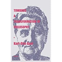 Towards a Transformation of Philosophy (Marquette Studies in Philosophy) by Karl-Otto Apel (1998-08-02)