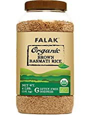 Organic Brown Basmati Rice - Premium Quality from India… Trusted Jasmine Rice 100% Natural Authentic Healthy & Nutritious Diet Grains, Non-Irradiated, Dainty Rice