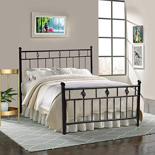Oliver Metal Furniture Standard Metal Double Bed  Black …
