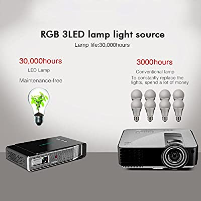 Mini proyector portátil toumei V5 3800 Lumens proyector 3d 4 K ...