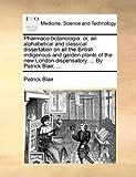 Pharmaco-Botanologi, Patrick Blair, 1170503292