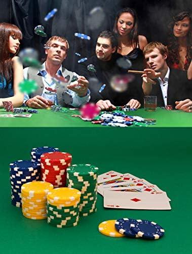 [スポンサー プロダクト]Mizuri カジノチップ 本格カジノ重量感 モンテカルロ ポーカーチップ ゲーム 盛り上がる 得点管理が容易 高級感 ルーレット/バカラ/ブラックジャック プロ仕様 5色(各色20枚, 計100枚セット)専用ケース付き
