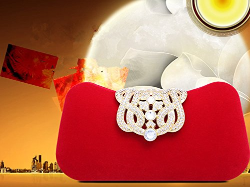 Ledyoung Pochette pour pour femme Pochette Red femme Ledyoung qnBwtxvyH7