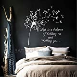 BATTOO Dandelion Wall Decal Quote Life Is A - Best Reviews Guide