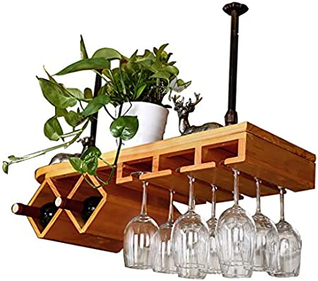BJLJJ Vinoteca/Soporte / Estantes/Almacenamiento, Vitrina De Vino De Pino Colgando Boca Abajo, Estante De Vino ++ (Color : 80x28cm)