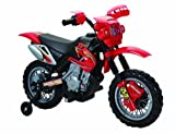 Kids Ride On Electric Bike Scrambler Childrens Battery Motorbike Motorcycle Toys (Red)