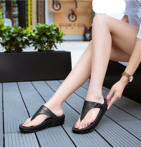 Negro Ligero Libre Playa Amortiguación Aumentar Zapatillas Aire Antideslizante NVXIE de De Sandalias Moda Zapatos FUHzBUfq