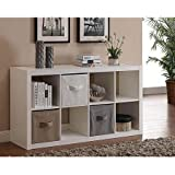 Better Homes and Gardens 8-Cube Organizer, White (White)
