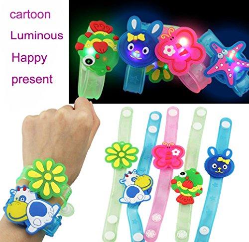 Kanzd LED Flashing Bracelet Child Bangle Wristband Kids Toys For Christmas Decoration (B)