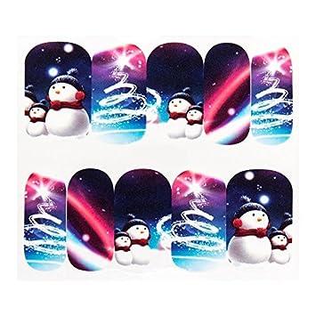 GLITTERY Sticker Schneemänner 1 Blatt