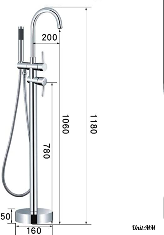 Amazon Com Billy S Home Floor Mounted Standing Bathtub Faucet