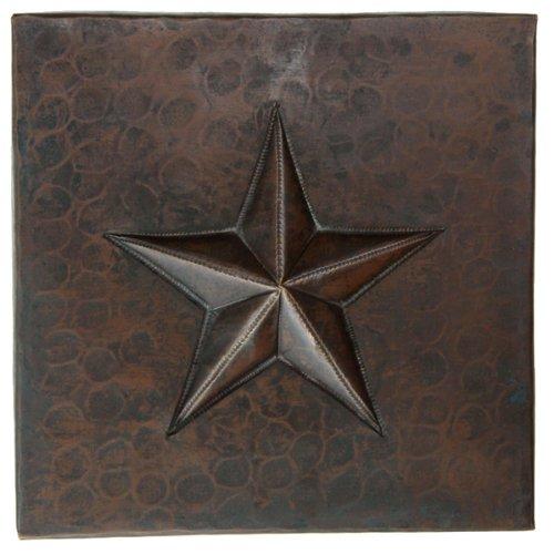 Copper Star Tile (Hammered Copper Tile)