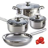Cook N Home NC-00249 Stainless Steel 7-Piece Cookware Set