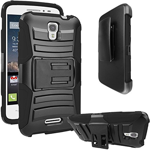 Customerfirst Dual Layer Holster Case with Kickstand, Lockin