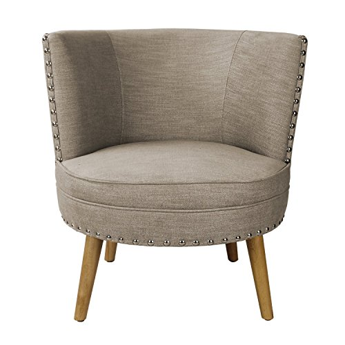 Asense Solid Color Fabric Mid Century Modern Contemporary Armchair/Accent Chair with Wooden Leg (Round Seat Gray)  sc 1 st  Amazon.com & Oversized Round Chair: Amazon.com