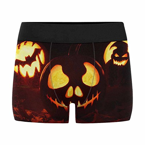 INTERESTPRINT Boxer Briefs Men's Underwear Pumpkin Halloween Holiday M