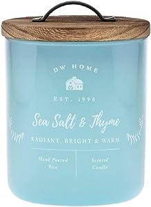 DW Home Farmhouse Series Richly Scented SEA Salt + Thyme Candle in Sea Foam Green Medium Tumbler, 8.5 Oz.