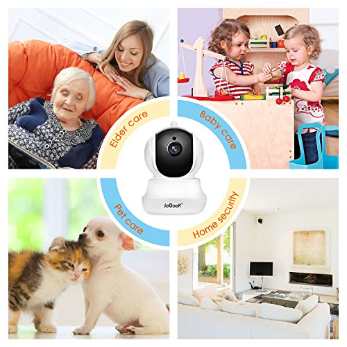 ieGeek-IP-Camera-Home-Wireless-Security-Camera-with-PanTiltZoom-Two-way-Audio-HD-Night-Vision-Motion-Detection-Email-Alarm-Micro-SD-Recording-for-iPhoneAndroid-PhoneiPadWindows-Remote-View