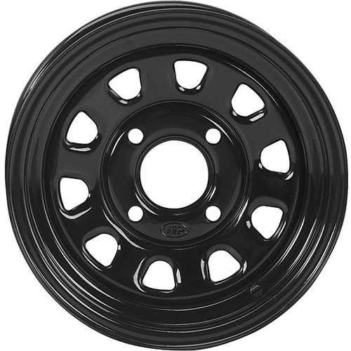 ITP Delta Steel Wheel – 12×7 – 4+3 Offset – 4/156 – Black , Bolt Pattern: 4/156, Rim Offset: 4+3, Wheel Rim Size: 12×7, Color: Black, Position: Front/Rear D12T556