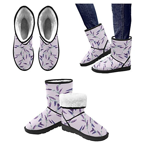 InterestPrint Womens Snow Boots Unique Designed Comfort Winter Boots Multi 10 x2IEFR