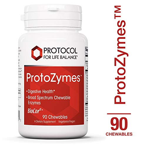 Protocol For Life Balance - ProtoZymes™ - Supports Digestive Health, Breakdown of Proteins, Carbohydrates, Fats, More in Chewable Supplement - Natural Berry Flavor - 90 Chewables