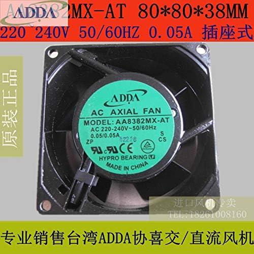 FOR ADDA fan AA8382MX-AT 808038 mm AC 220V 2400RPM 24CFM socket cooling fan
