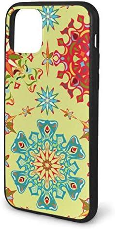 フラワーイエローレッドiPhone 11プロマックスケース、アンチスクラッチノンスリップショックプルーフTPUソフトケースiPhone 11プロマックス6.5インチ