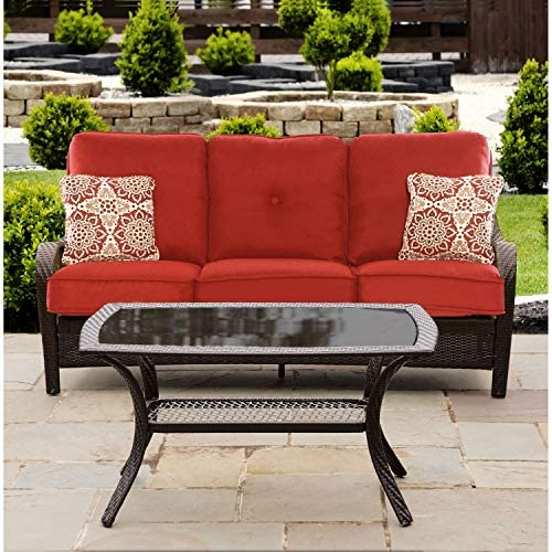 Hanover ORLEANS2PC-B-BRY anover Orleans 2-Piece Steel Outdoor Patio Deep Seating Set