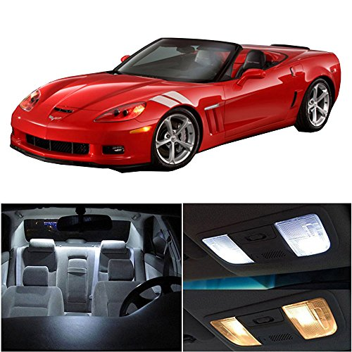 (cciyu Replacement fit for 1997-2004 Chevy Corvette C5 Interior LED Light Package Kit 10 Pack White Light)