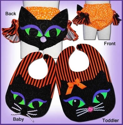 Pattern - Cat Ears Diaper Cover & Bib - PATTERN ONLY! by Sew Tuti