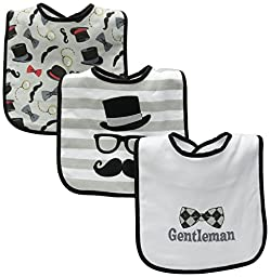 Baby Essentials Mustache Gentleman 3 Pack Bibs