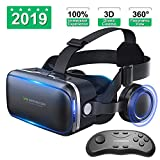 Vr Headset with Remote Controller for VR Games and 3D Movies, Eye Care
