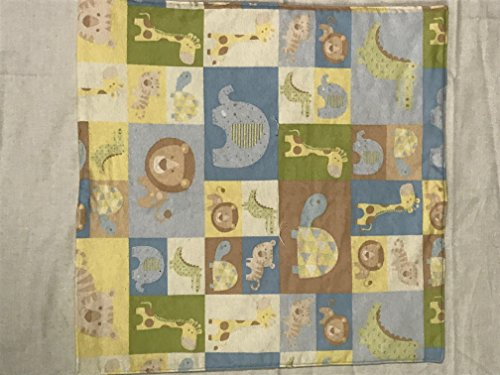 "Jungle Animals Flannel Quilt, American Girl Doll Quilt, doll blanket, 20"" x 20"" - 334"