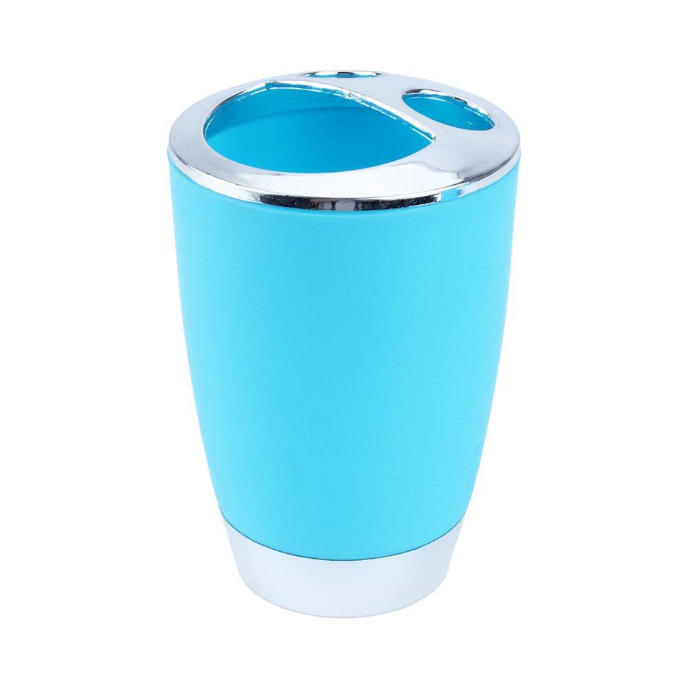 Kosmetikeimer Stilvolles Badezimmer Zubeh/ör mit Seifenspender Becher 6 teilig Badezimmer Set Set aus ABS WC B/ürstengarnitur Blau Seifenschale Bad Accessoires Set Zahnb/ürstenhalter