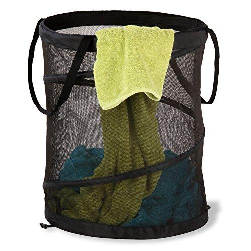 Large Mesh Pop - Honey-Can-Do HMP-01127 Large mesh pop Open Hamper, Black,