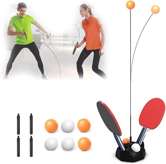 1.1-1.3m Macallen Table Tennis Trainer Bambini Giocattolo Elastico Morbido Set da Ping Pong Regolabile in Altezza Tre in Uno Freccette Lancio DellAnello per Sport e attivit/à Allaperto
