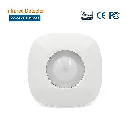 Sensor infrarrojo en el Techo Z-Wave Sensor de Movimiento inalámbrico PIR, Alarma antiviolentos