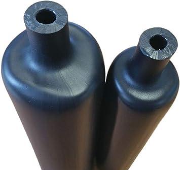 3:1 Stange á 1,2m schwarz mit Innenkleber Schrumpfschlauch Ø 6//2mm