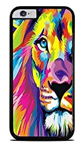 Colorful Graffati Lion Black Hardshell Case for iPhone 6 (4.7)