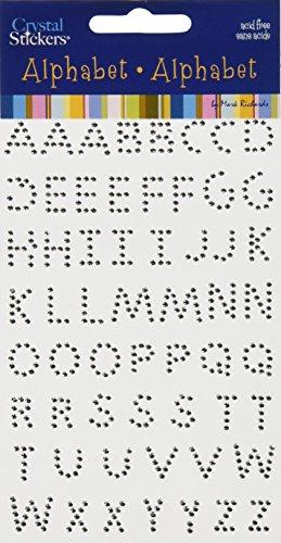MARK RICHARDS Crystal Stickers Alphabet 58/Pkg, Clear