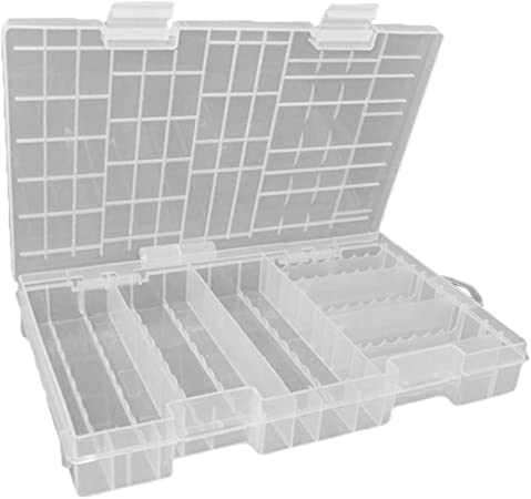 B Blesiya Para 60pcs AA + 40pcs AAA Batería] Caja De Cajones De Almacenamiento Organizador De Batería Duradera: Amazon.es: Hogar