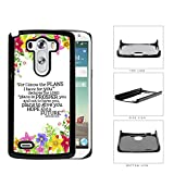 Jeremiah 29:11 Religious Bible Verse Colorful Flower Borders [LG G3 VS985] Hard Snap on Plastic Cell Phone Cover