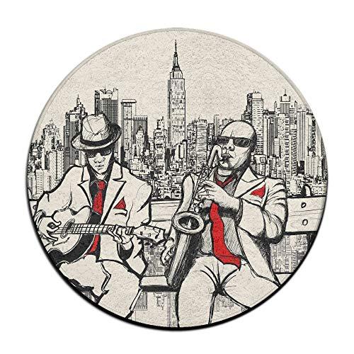 Jianyue Jazz Men Band Playing Beats in New York at Night Doo