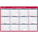 """AT-A-GLANCE Academic Year Erasable Calendar, July 2016-June 2017, Vertical/Horizontal, 2-Sided, 48""""x32"""" (PM36AP2817)"""