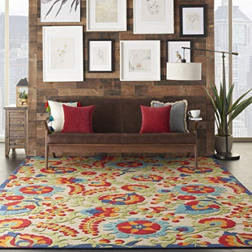 Nourison Aloha Multicolor Indoor/Outdoor Area Rug 7 Feet 10 Inche