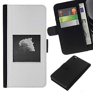 All Phone Most Case / Oferta Especial Cáscara Funda de cuero Monedero Cubierta de proteccion Caso / Wallet Case for HTC DESIRE 816 // Pile Black White Rose Art
